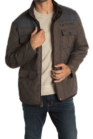Cole Haan Quilted Utility Pocket Jacket