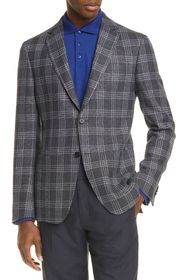 Z Zegna Plaid Trim Jacket