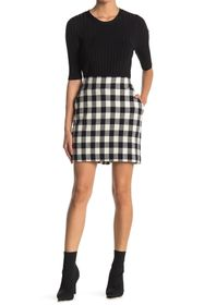 VERONICA BEARD Arezzo Buffalo Plaid Mini Skirt