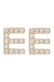 Ron Hami 14K Yellow Gold Diamond Initial Stud Earr