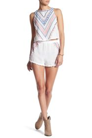 Flying Tomato Embroidered Short