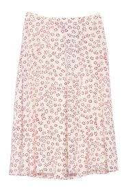 Theory Floral Print Silk Skirt