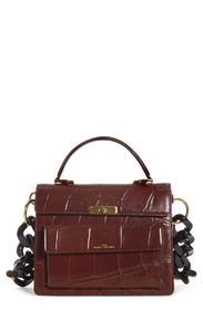 THE MARC JACOBS The Downtown Croc Embossed Leather
