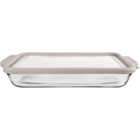 Anchor Hocking 3qt/ Baking Dish with Grey Lid