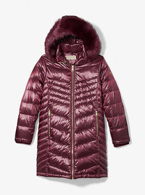Michael Kors Faux Fur Quilted Puffer Coat