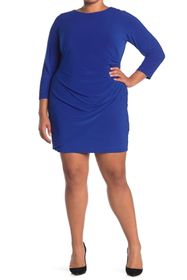 Eliza J Side Ruched Long Sleeve Dress