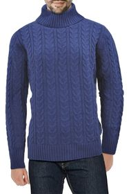 XRAY Cable Knit Turtleneck Sweater