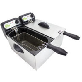 NEWCHARD Carey Double 3-Liter Electric Deep Fryer