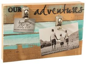 Sweet Bird & Co. Our Adventures Wood Clip Frame