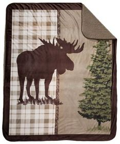 White River Moose Crossing Micro Mink Throw