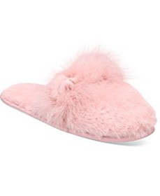 Critter-Ear Faux-Fur Scuff Slippers, Created for M