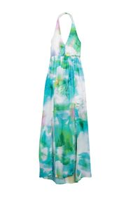 bebe Chiffon Halter Neck Maxi Dress