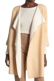 Donna Karan 3/4 Length Sleeve Two Tone Cardigan