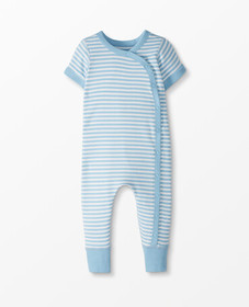 Hanna Andersson Snap Romper In Organic Cotton