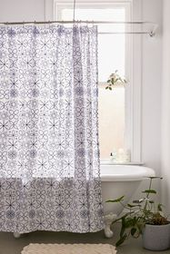 Cora Embroidered Shower Curtain