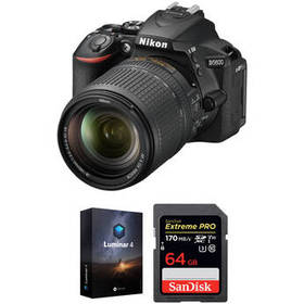 Nikon D5600 DSLR Camera with 18-140mm Lens and Sof