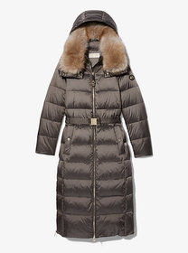 Michael Kors Quilted Nylon Belted Puffer Coat