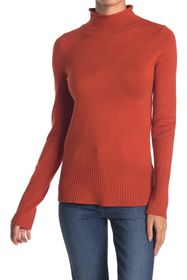 French Connection Rolled Mock Neck Knit Sweater