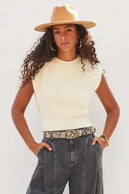 Anthropologie Martie Cable-Knit Top