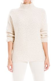 Max Studio Marled Mock Neck Sweater