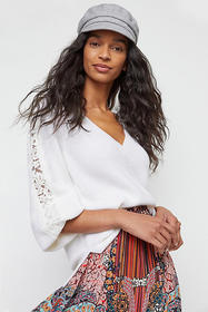 Anthropologie Antoinette Lace Pullover