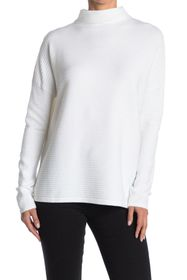 French Connection Mock Neck Ribbed Knit Sweater