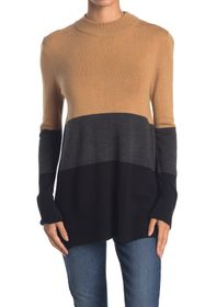 French Connection Normie Colorblock Mock Neck Swea