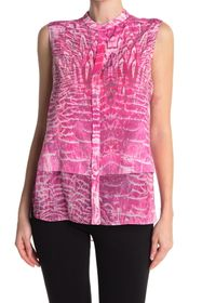 Elie Tahari Eve Printed Sleeveless Blouse