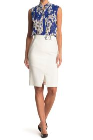 Elie Tahari Gracelyn Belted Skirt