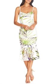 Dress the Population Alea Tropical Print Lace Dres
