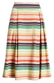 Halogen® x Atlantic-Pacific Print Full Midi Skirt