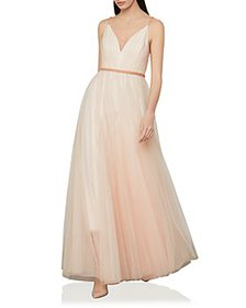 BCBGMAXAZRIA - Tulle A Line Gown