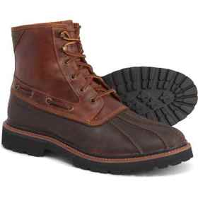 Sperry Brown and Tan Gold Cup Lug Duck Boots - Wat