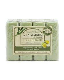 Made In France 4pk Fresh Peppermint Bar Soap