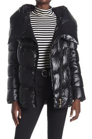 Donna Karan Asymmetrical Zip Puffer Jacket