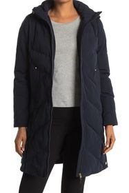 French Connection Hooded Long Puffer Jacket