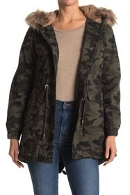 Lucky Brand Faux Fur Trim Hooded Anorak Jacket