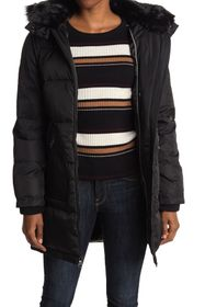Vince Camuto Faux Fur Trim Hooded Down Jacket