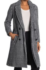 BCBGMAXAZRIA Houndstooth Double Breasted Coat