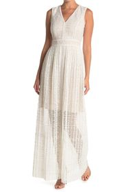 Elie Tahari Raine V-Neck Maxi Dress