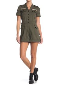 Valentino Military Short Sleeve Romper
