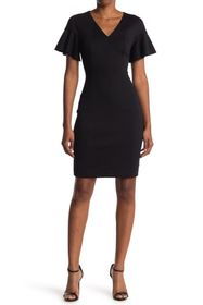 Elie Tahari Geraldine Flutter Sleeve Dress