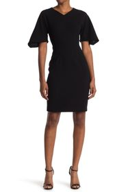 Elie Tahari Percy Bell Sleeve Sheath Dress