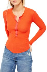 Free People One of The Girls Thermal Henley Top
