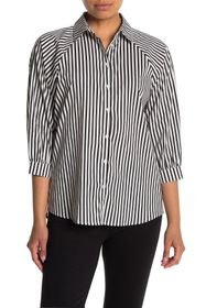 T Tahari Balloon Sleeve Poplin Shirt