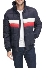 Tommy Hilfiger Stand Collar Quilted Ski Bomber Jac
