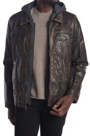 Levi's Faux Leather & Faux Shearling Hooded Jacket
