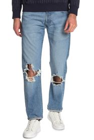 "Levi's 501 Distressed Relaxed Fit Jeans - 30-38"" I"