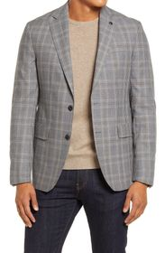 Ted Baker London Konan Trim Fit Plaid Wool Blazer