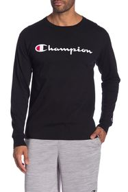 Champion Logo Print Long Sleeve T-Shirt